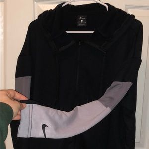 Black and grey zip up nike jacket
